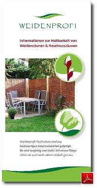 Infoblatt Zur Haltbarkeit von Weidenzäunen und Haselnusszäunen - pdfTitel