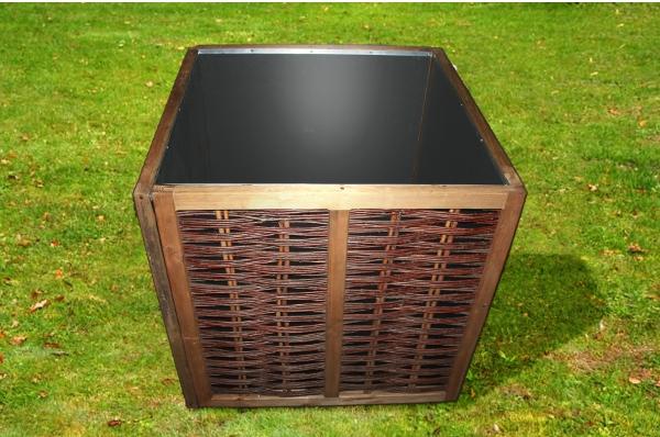 ein hochbeet bausatz aus weide nat rlich statt bretter blech beton und plastik. Black Bedroom Furniture Sets. Home Design Ideas