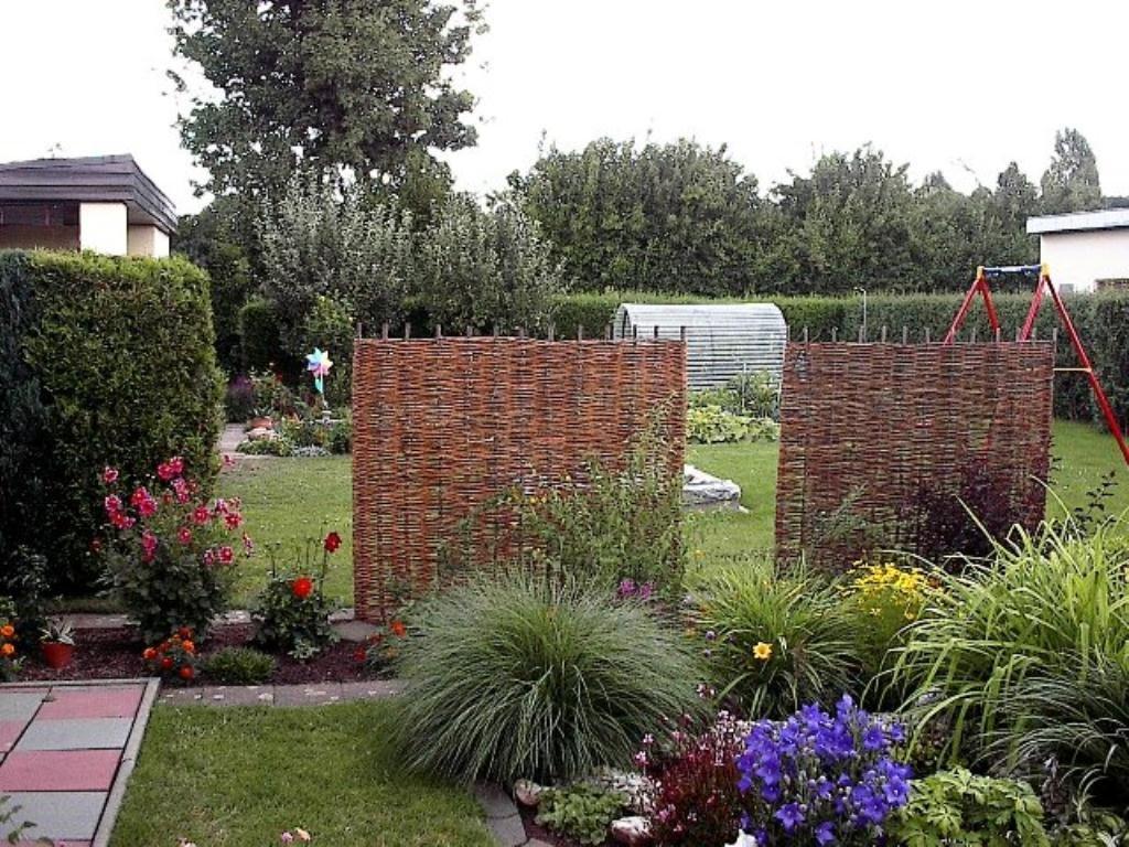 ... Weide Paravent Aus Weide Mit Rahmen Als - Comsichtschutz Garten Weide