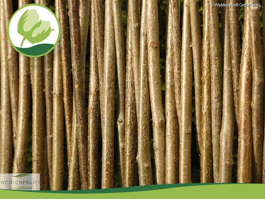Haselnusszaun Naturzäune Sichtschutz Haselnuss vom Weidenprofi