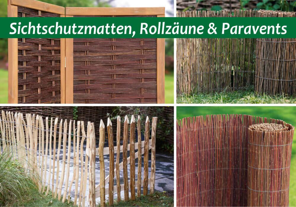Rollmatten, Staketen U0026 Paravents   Weidenprofi GmbH   Weidenzäune,  Haselnusszäune, Robinienzäune, Gartenausstattung, Korbwaren