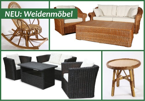 Lounge-Gruppen & Kindermöbel Aus Korbweide