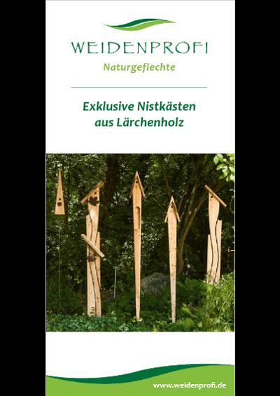 Exklusive Nistkästen aus Lärchenholz