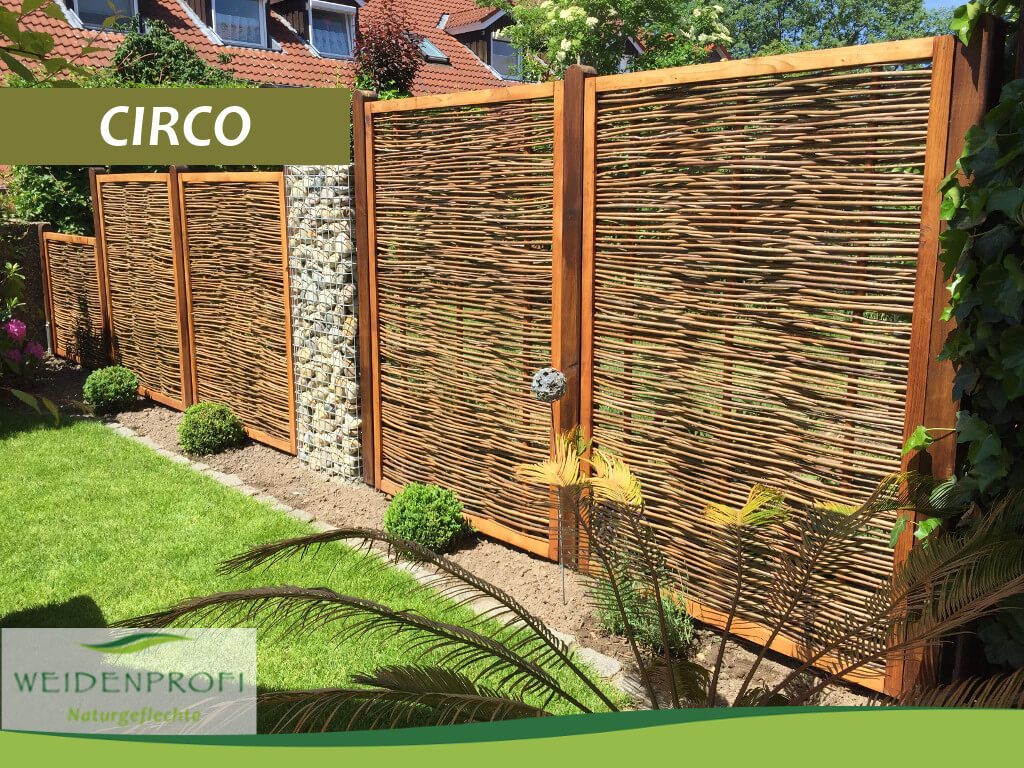 Serie CIRCO Naturzäune mit Holzrahmen Weidenprofi GmbH